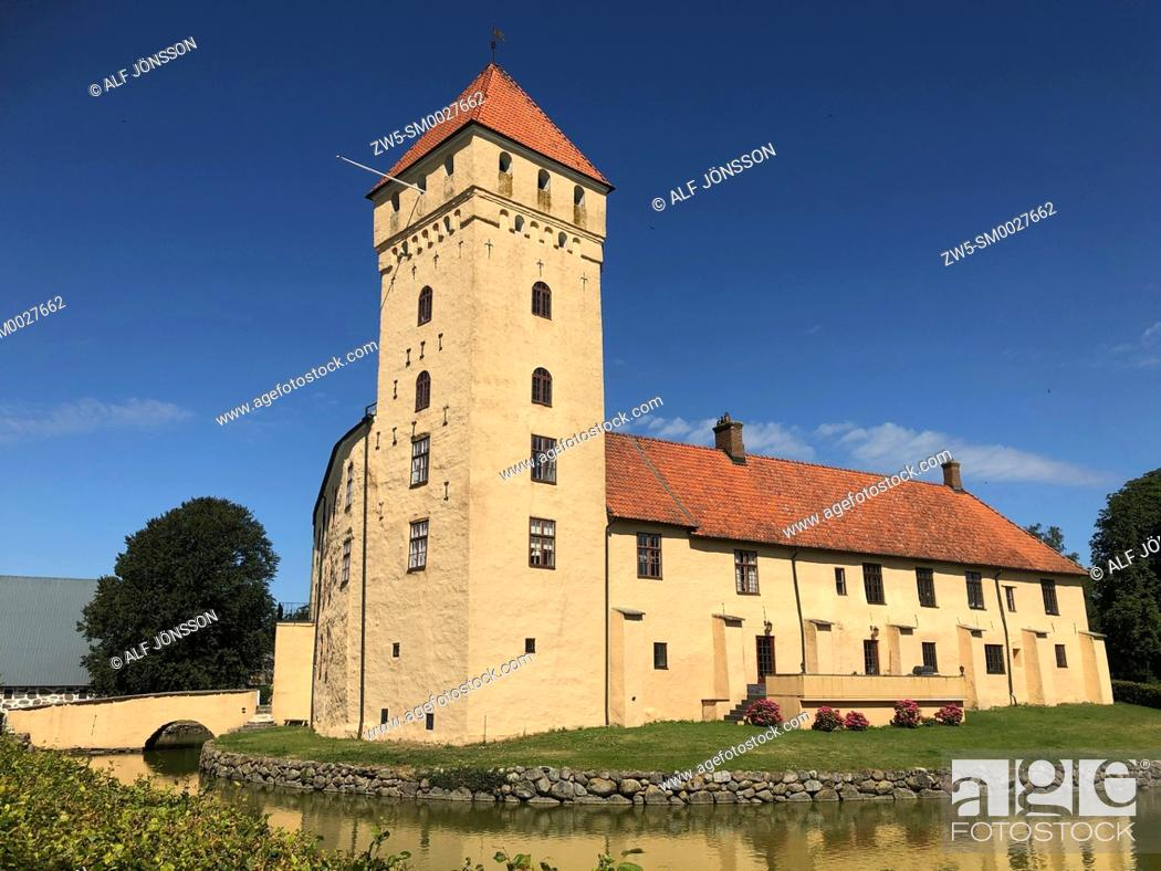 Stock Photo: Tosterup castle in Scania, Sweden.