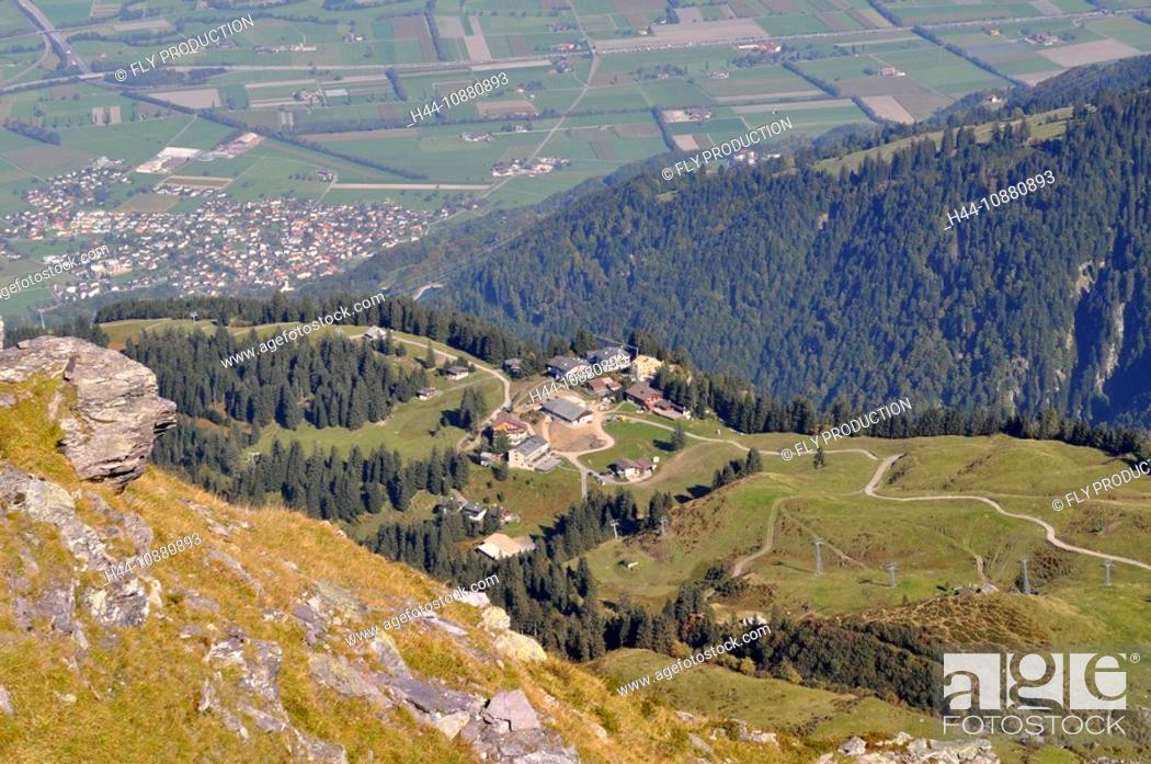 Imagen: Pizolgebiet, Blick auf Wangs, Schweiz.