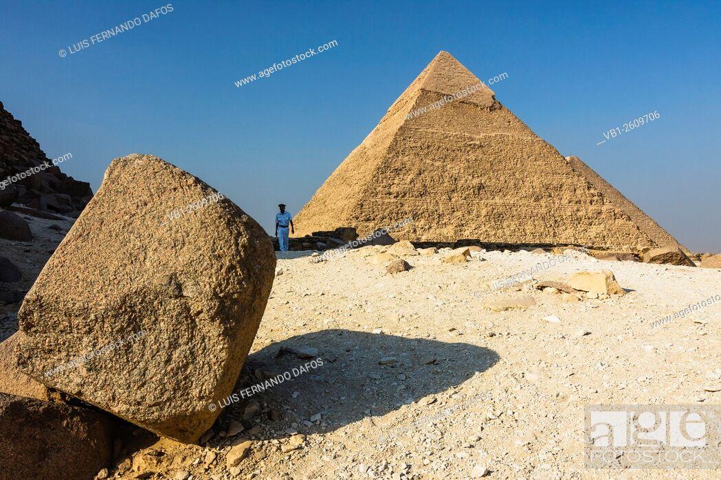 Imagen: Pyramid of Chephren, Cairo, Egypt.