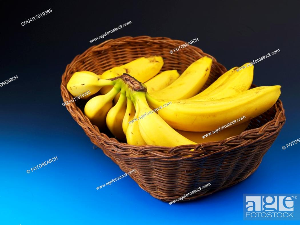 Stock Photo: plant, banana, fruit, plants, basket.