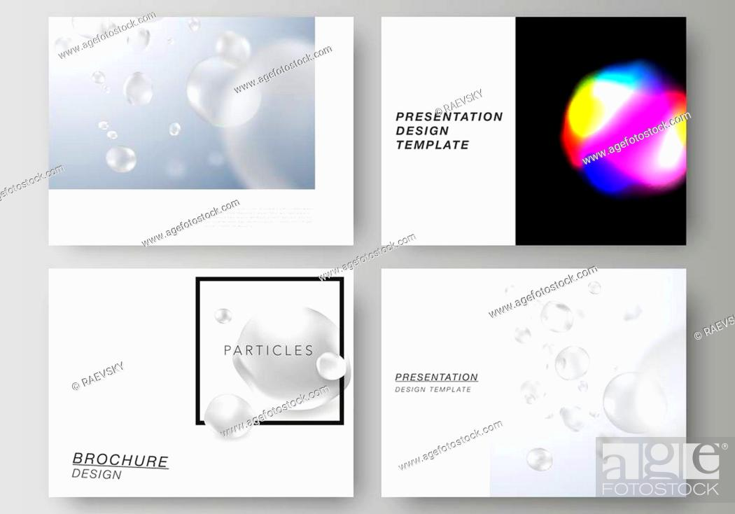 Vecteur de stock: The vector layout of the presentation slides design business templates. SPA and healthcare design, sci-fi technology background.