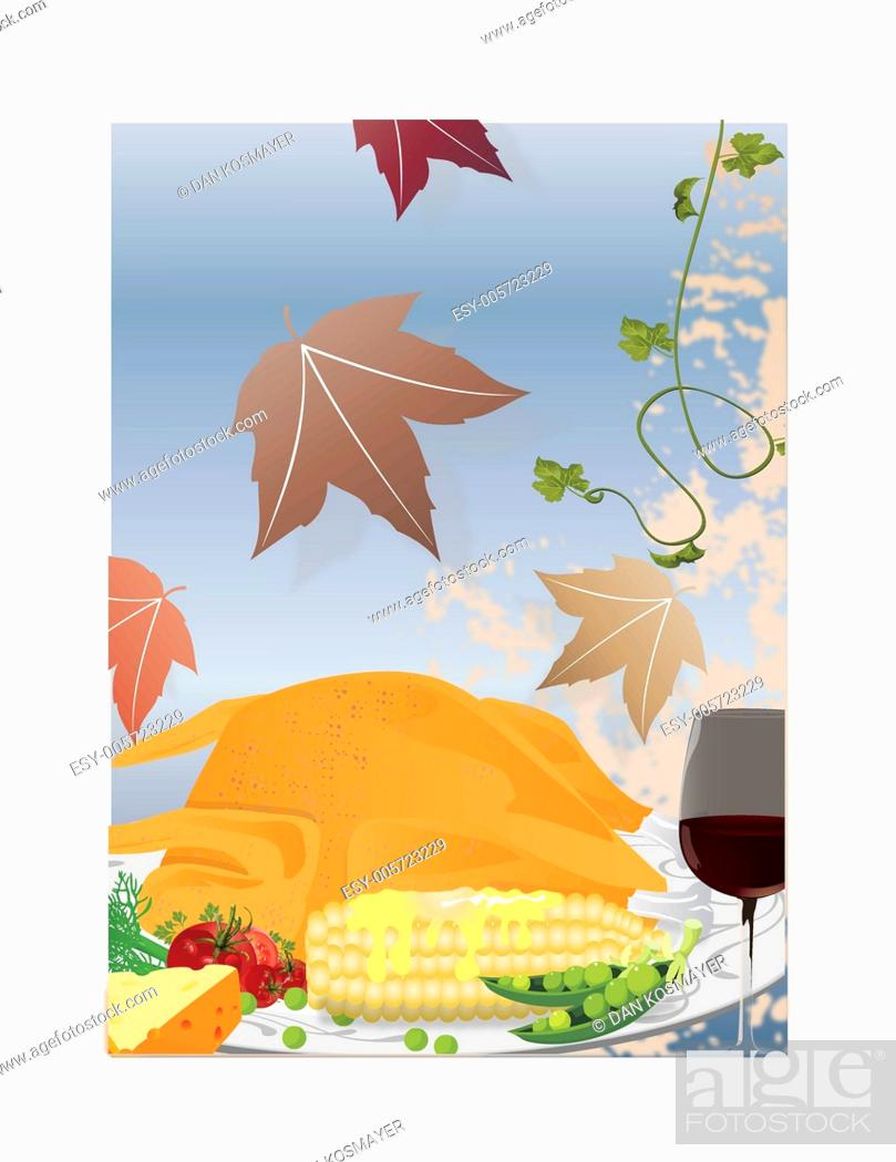 Stock Vector: thanksgiving poster clip art.
