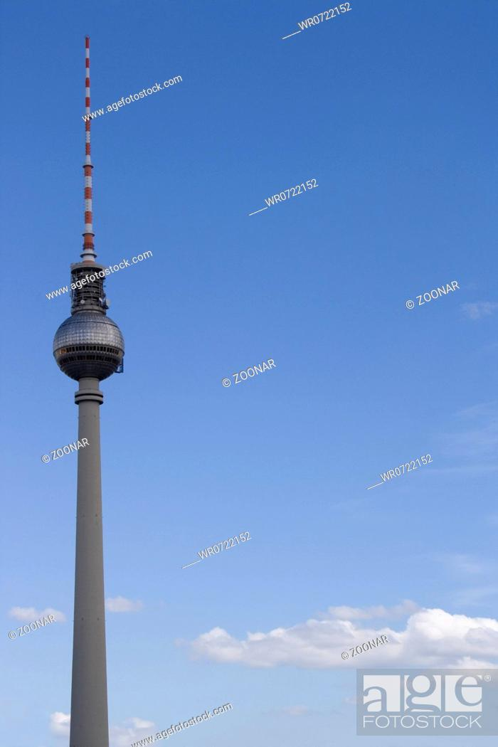Stock Photo: televisiontower Berlin.