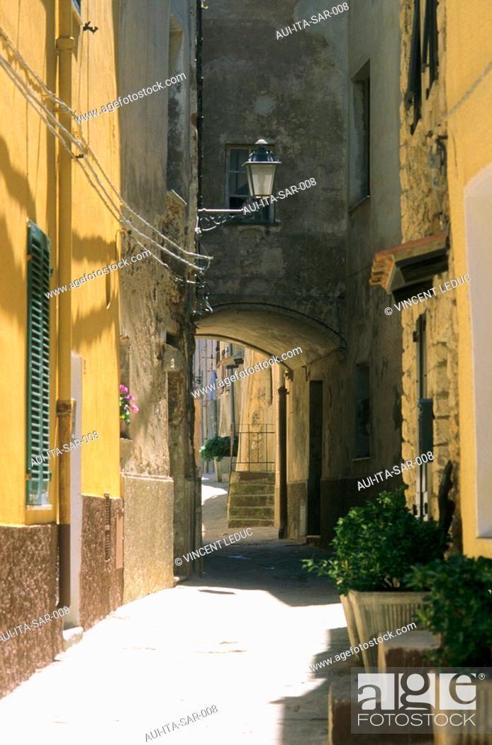 Stock Photo: Italy - Sardinia - North Region - Castelsardo - Old city.