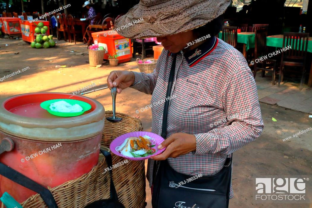 Stock Photo: Cambodia exotic products, duck egg, Siem Reap, Cambodia.
