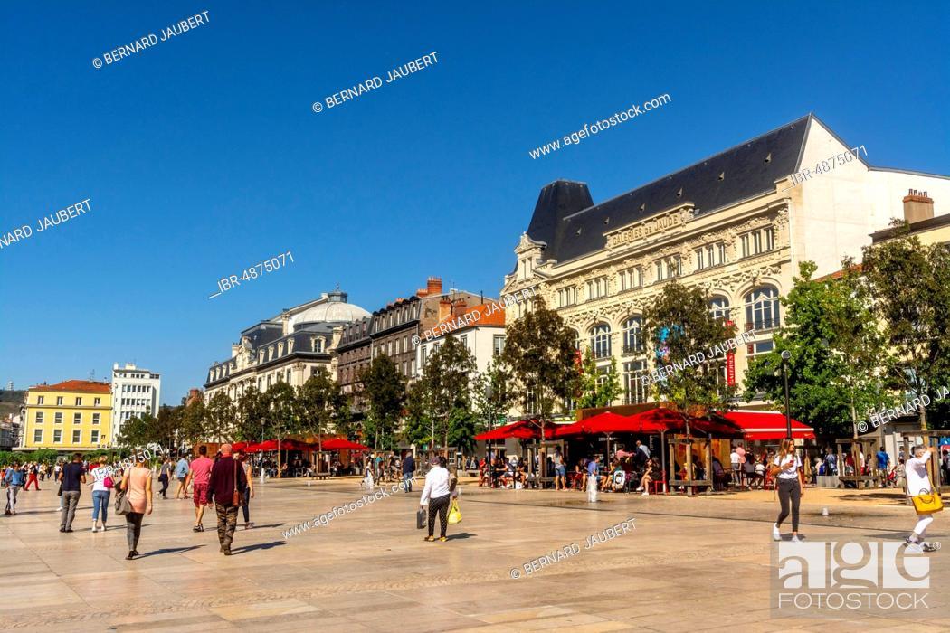 Stock Photo: Place de Jaude, Clermont Ferrand, Puy de Dome department, Auvergne-Rhone-Alpes, France.