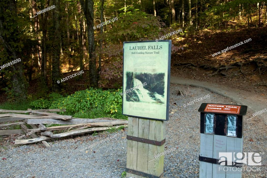 Stock Photo: Laurel Falls Trailhead in the Great Smoky Mountains National Park.