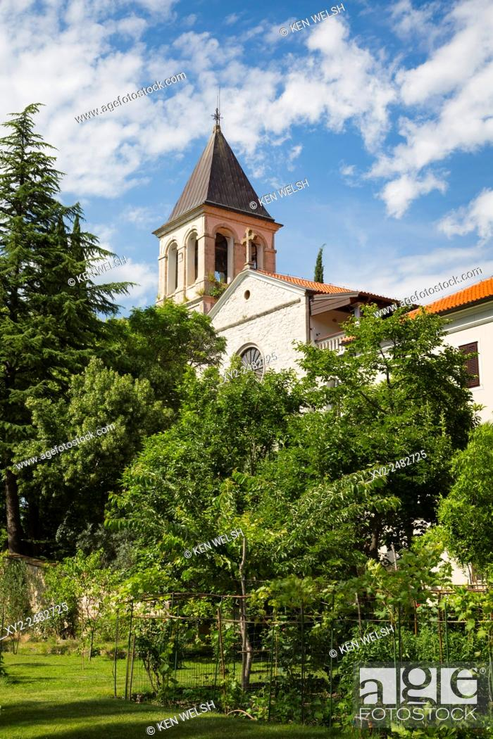 Stock Photo: Krka National Park, Nacionalni park Krka, Dalmatia, Croatia. Visovac Island within the park is home of the Visovac Monastery.