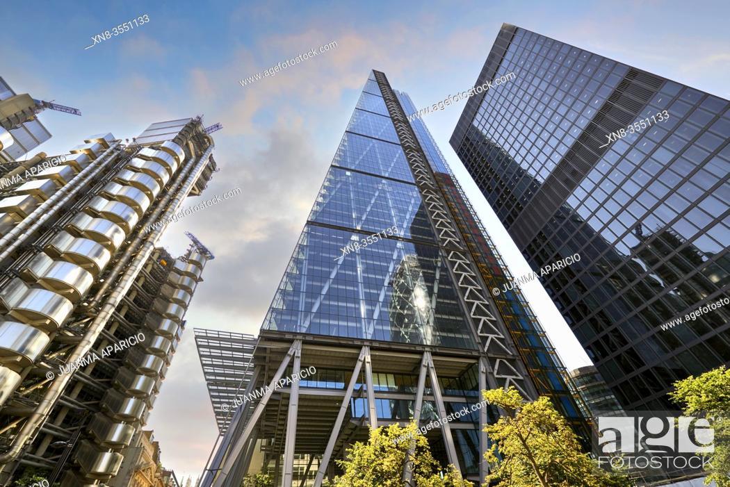 Stock Photo: Leadenhall building, London, England, United Kingdom.