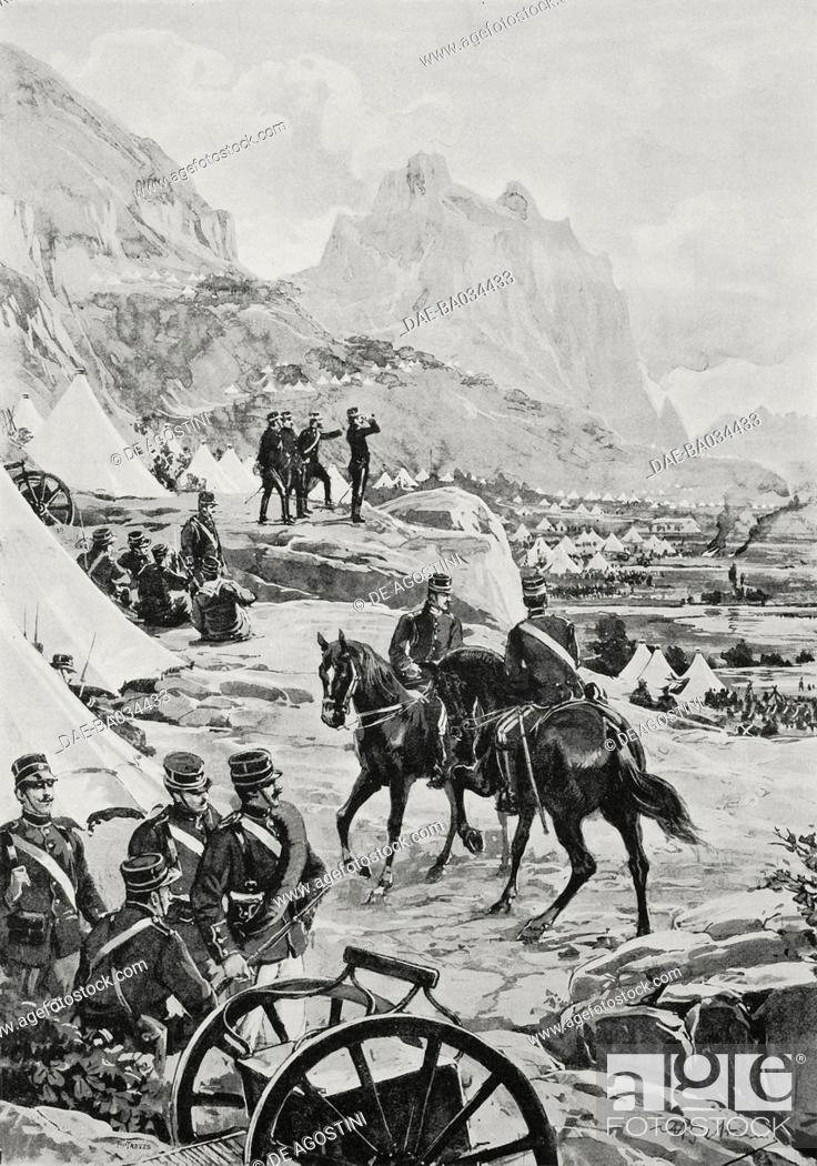 Greek army camp at Thermopylae, Greece, Greco-Turkish War