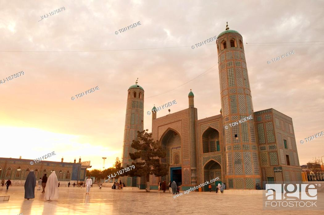 Stock Photo: Hazrat ali mosque in Mazar-i-sharif afghanistan where Ali is believed to be burried.