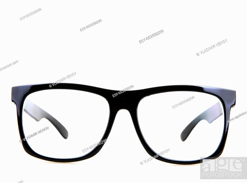 Stock Photo: Black Eye Glasses Isolated On White.
