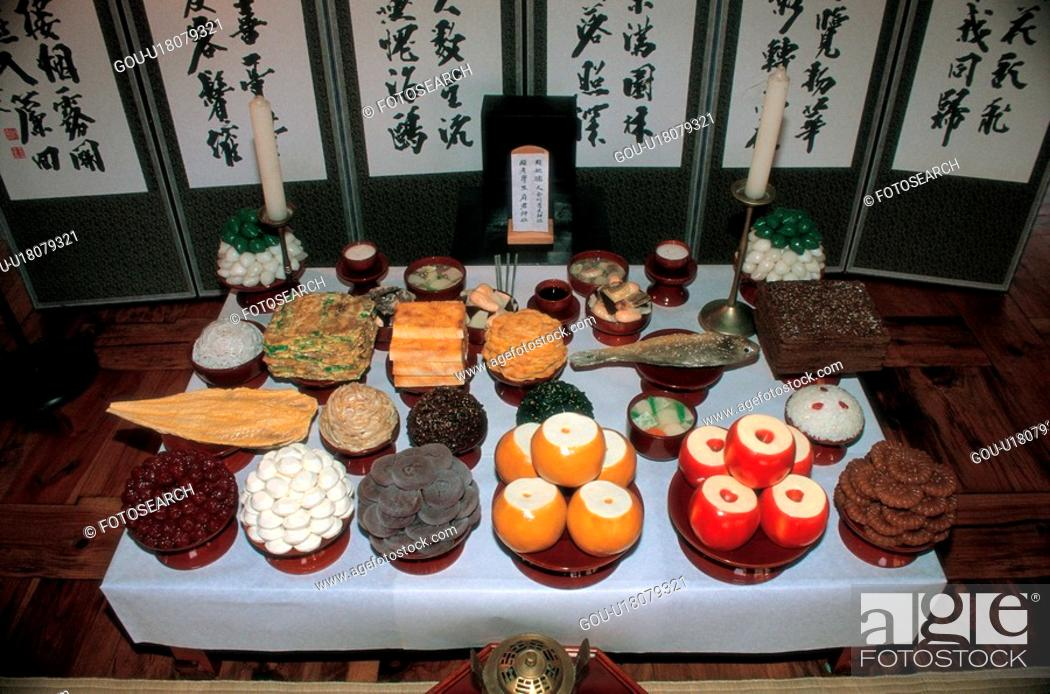 Stock Photo: food, 35mm, memorial service, customs, culture, film.