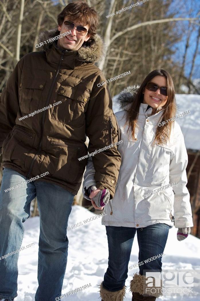 bd24202806 Stock Photo - Couple in casual ski wear.