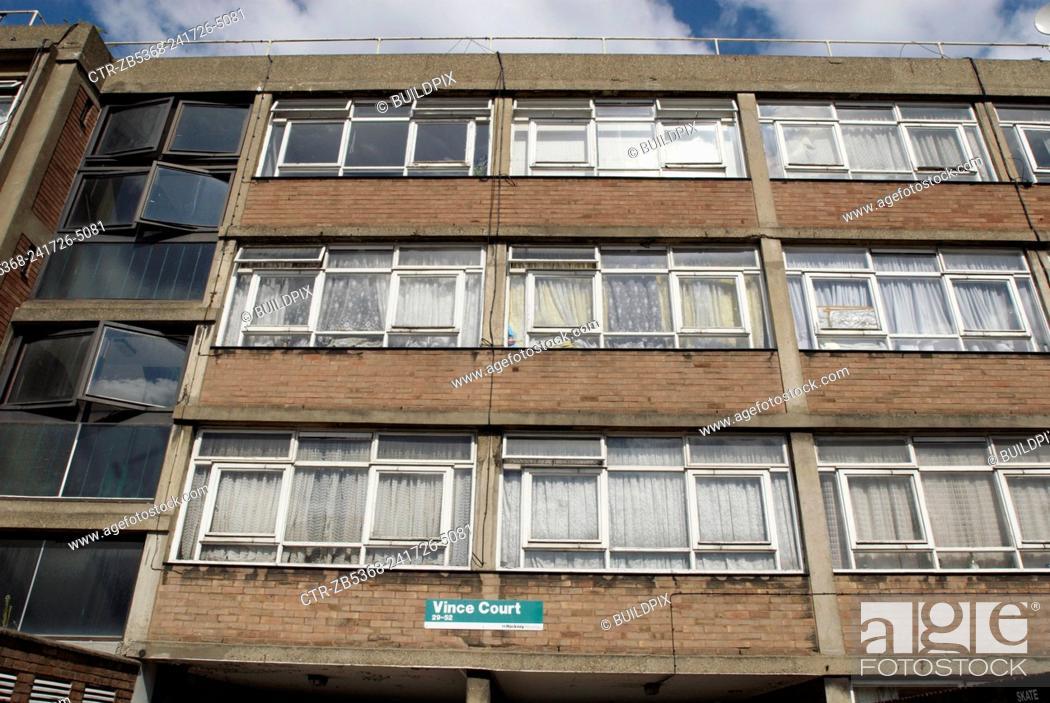 Imagen: Council estate, East London, UK.