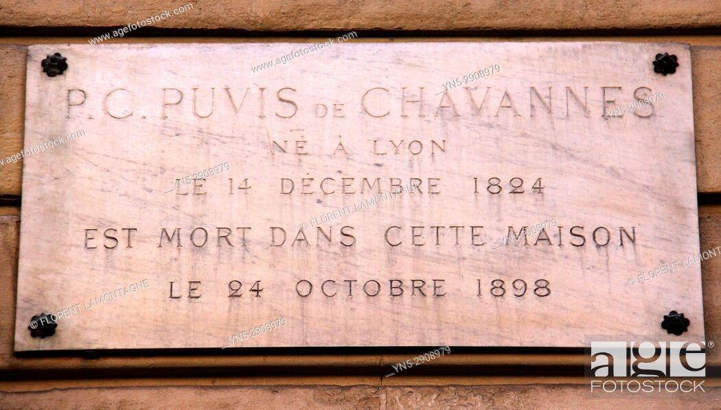 Stock Photo: Puvis de chavannes, maison, Paris, 75017, house.
