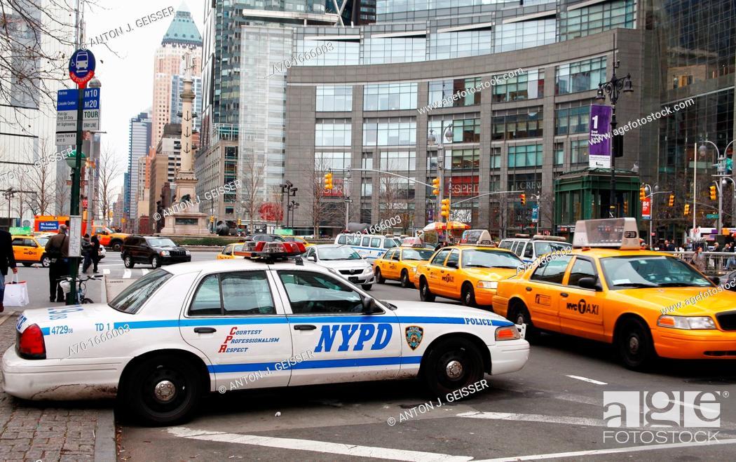 Stock Photo: Police car , new york , america.