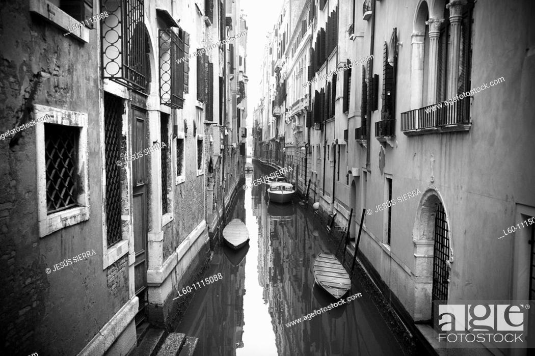 Stock Photo: Canal in Venice, Italy.