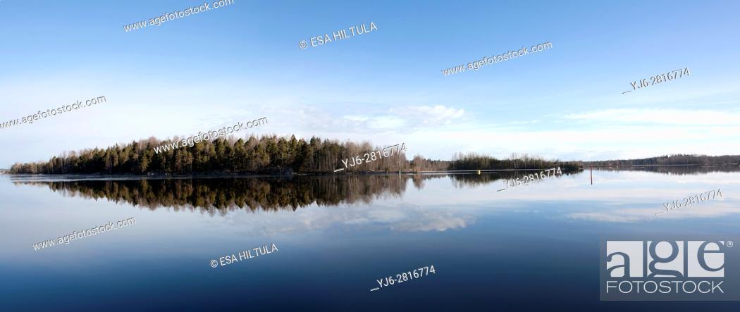 Stock Photo: panoramic view, Lappeenranta Finland.