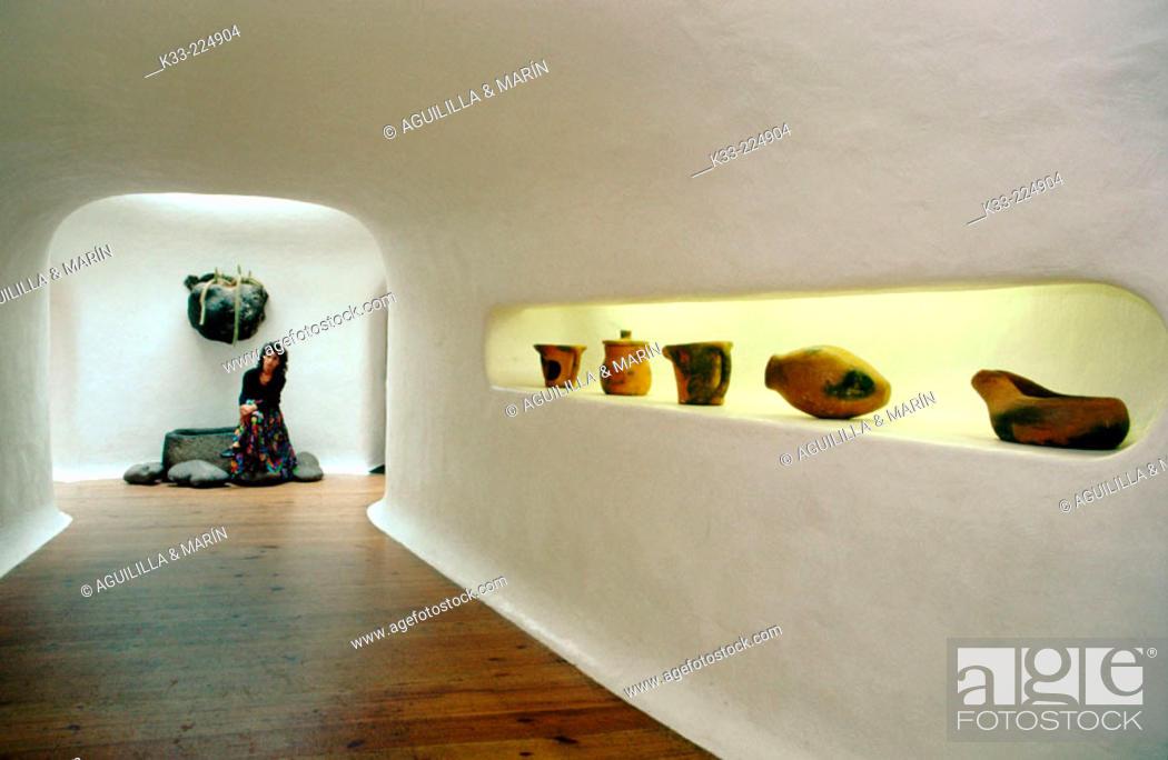 Stock Photo: Interior of the Mirador del Río (a viewpoint created by Lanzarote artist César Manrique) in Lanzarote. Canary Islands. Spain.
