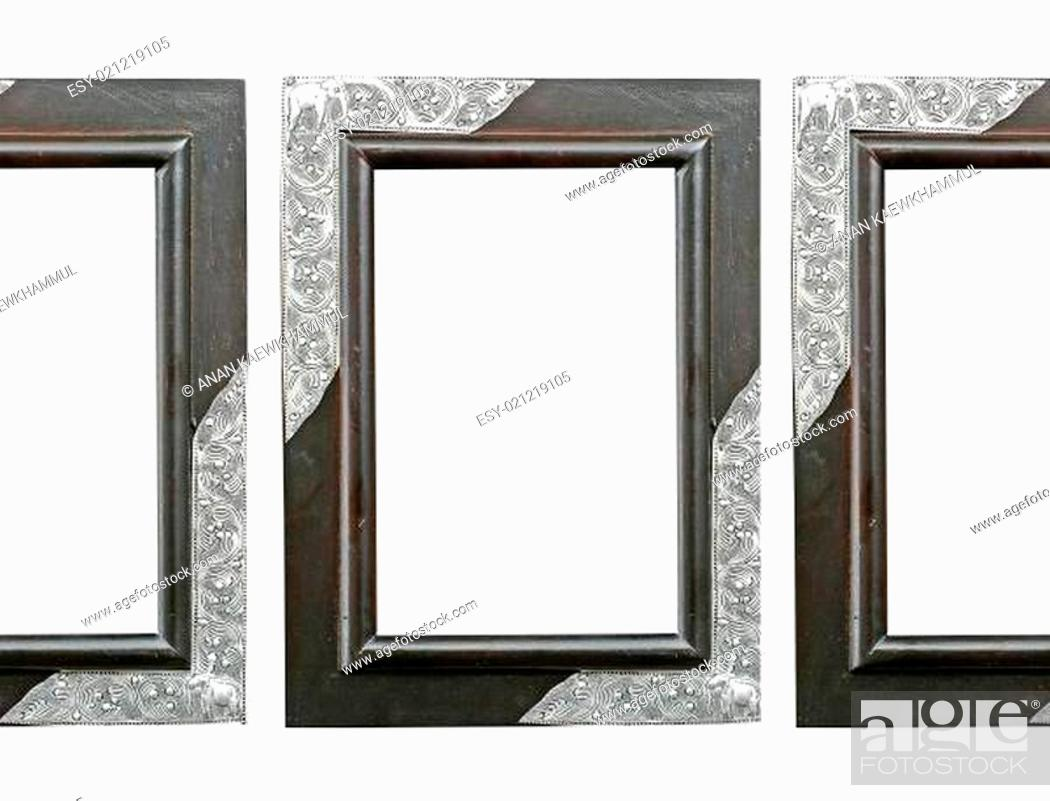 Stock Photo: wooden frame isolated.