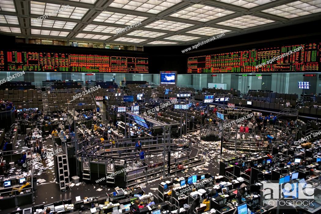 Empty interior trading floor
