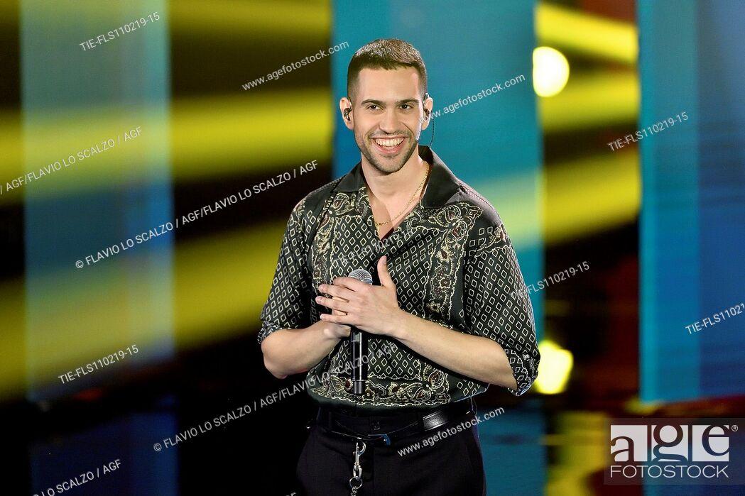 Imagen: Singer Mahmood winner of 69th Sanremo Music Festival during the tv show Che tempo che fa, Milan, ITALY-10-02-2019.