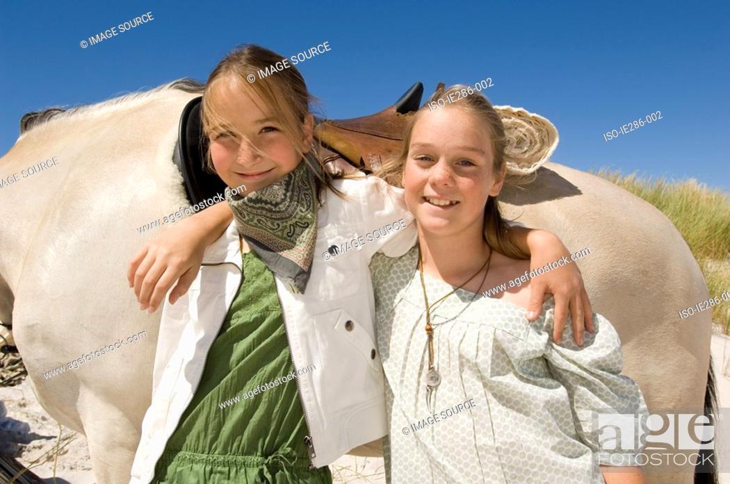 Stock Photo: Portrait of two friends.