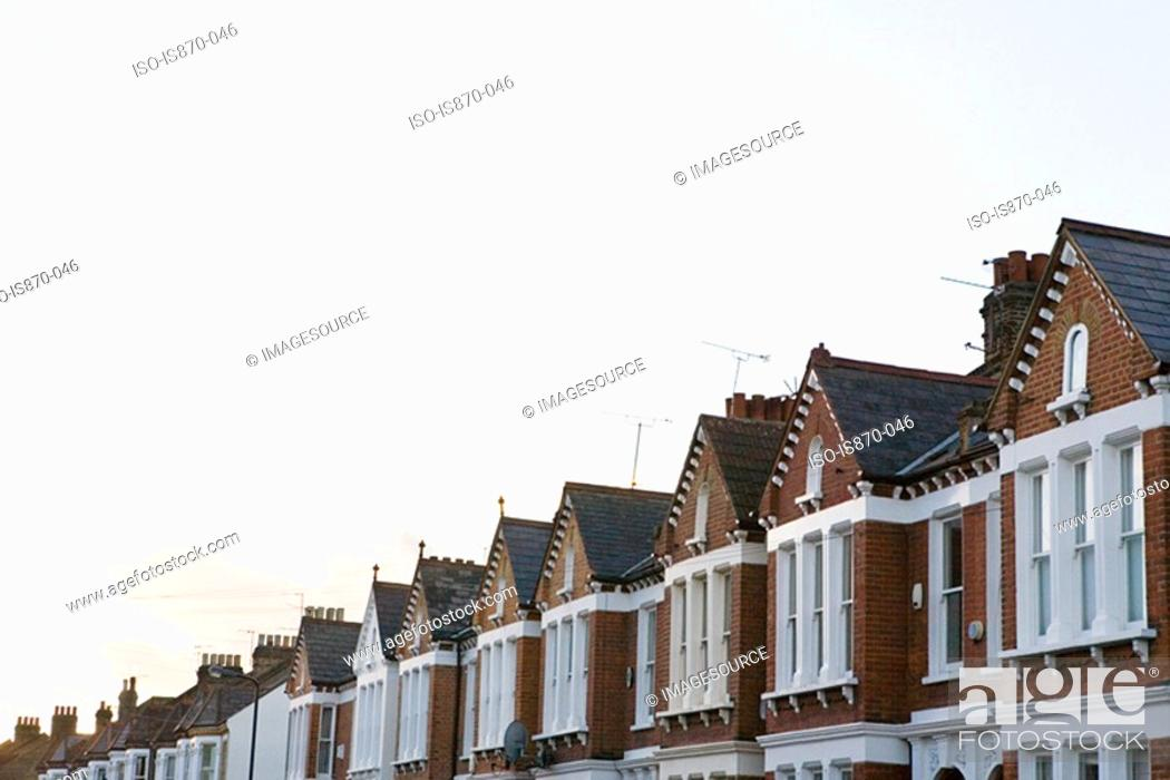 Stock Photo: Street of terraced houses.