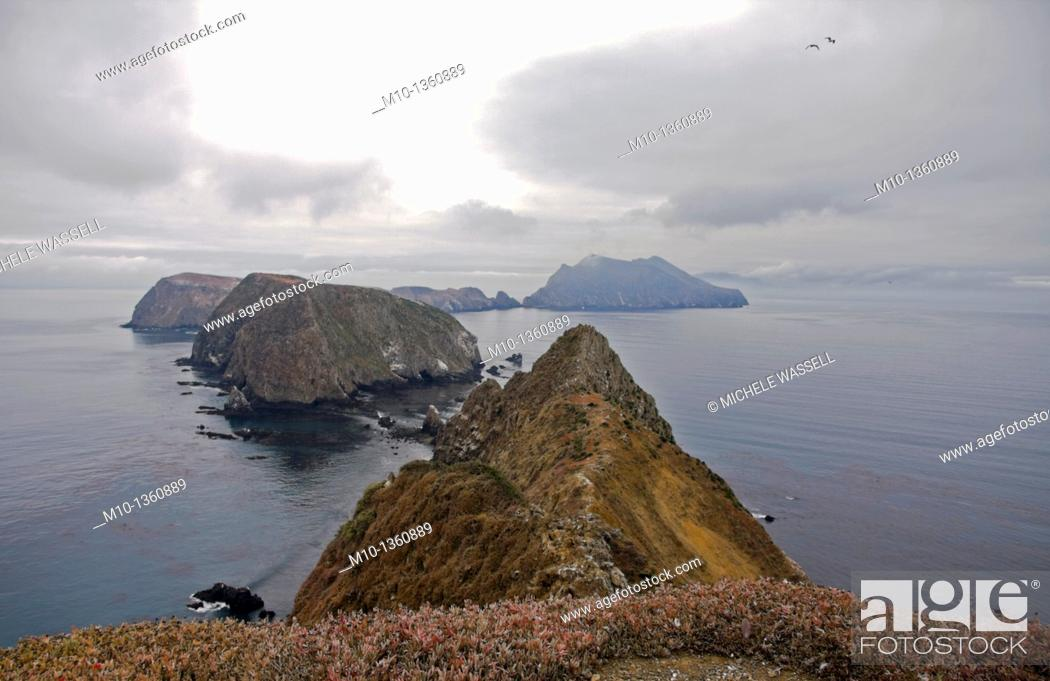 Stock Photo: Inspiration Point on Anacapa Island, California.