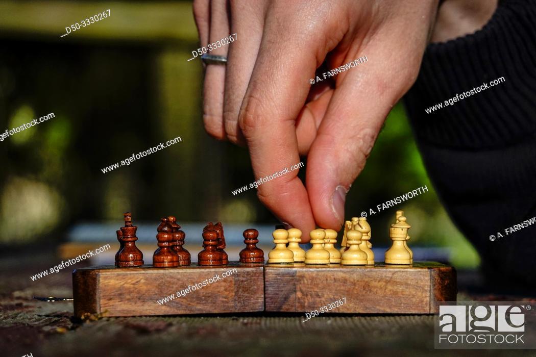 Imagen: Broomes Island, Maryland USA A chess set.