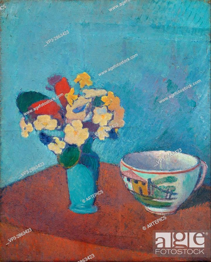 Stock Photo: Emile Bernard - Vase with flowers and cup - Van Gogh Museum, Amsterdam.