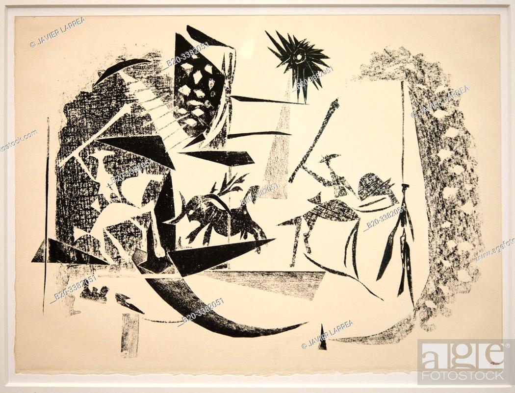 "Stock Photo: ""Corrida au soleil noir"", 1946, Pablo Picasso, Picasso Museum, Paris, France, Europe."