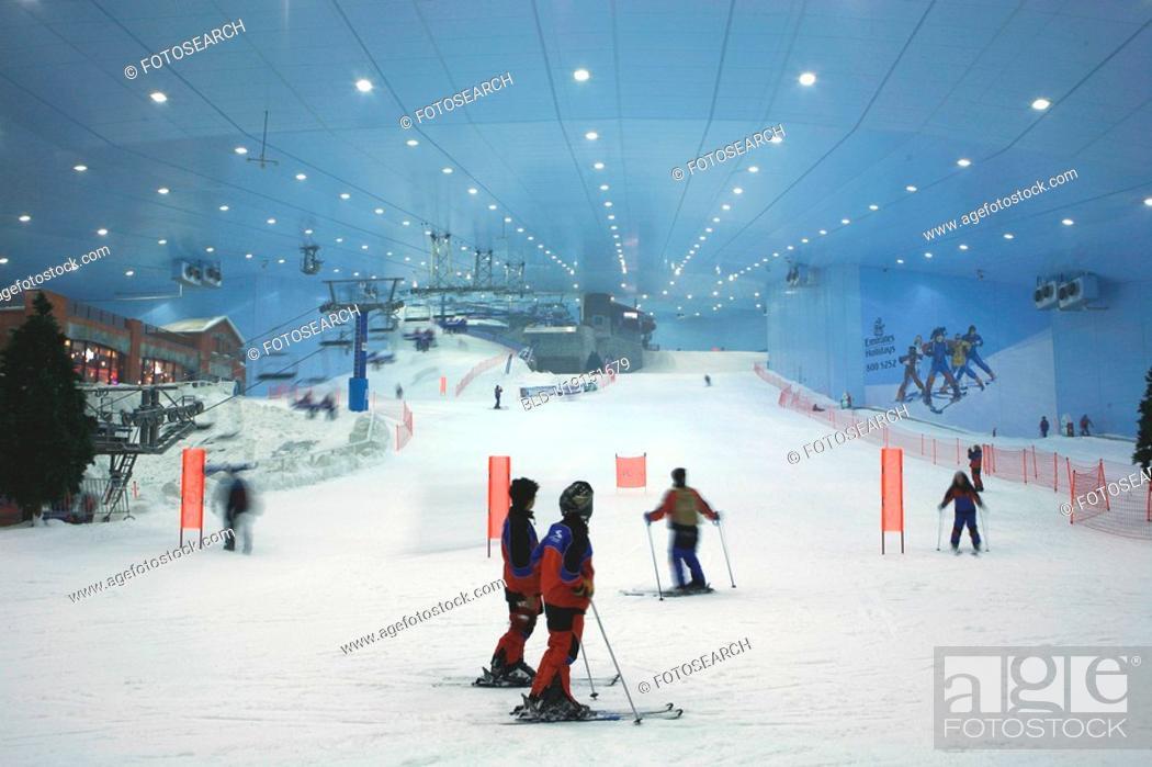 Stock Photo: dubai, emirates, mall, ski.