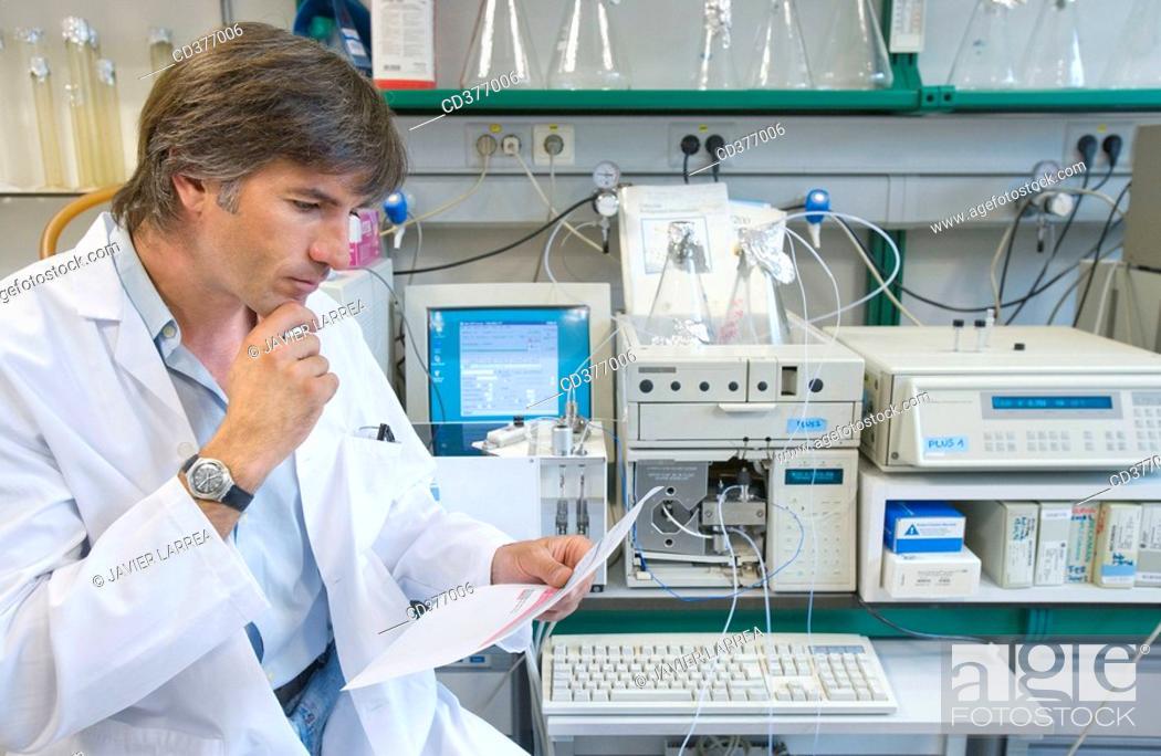 Stock Photo: Researchers.
