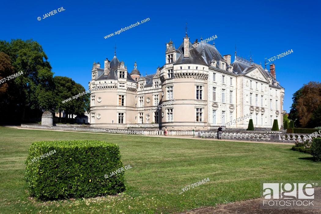 Stock Photo: Castle of Le Lude, Sarthe, Pays de la Loire, France.