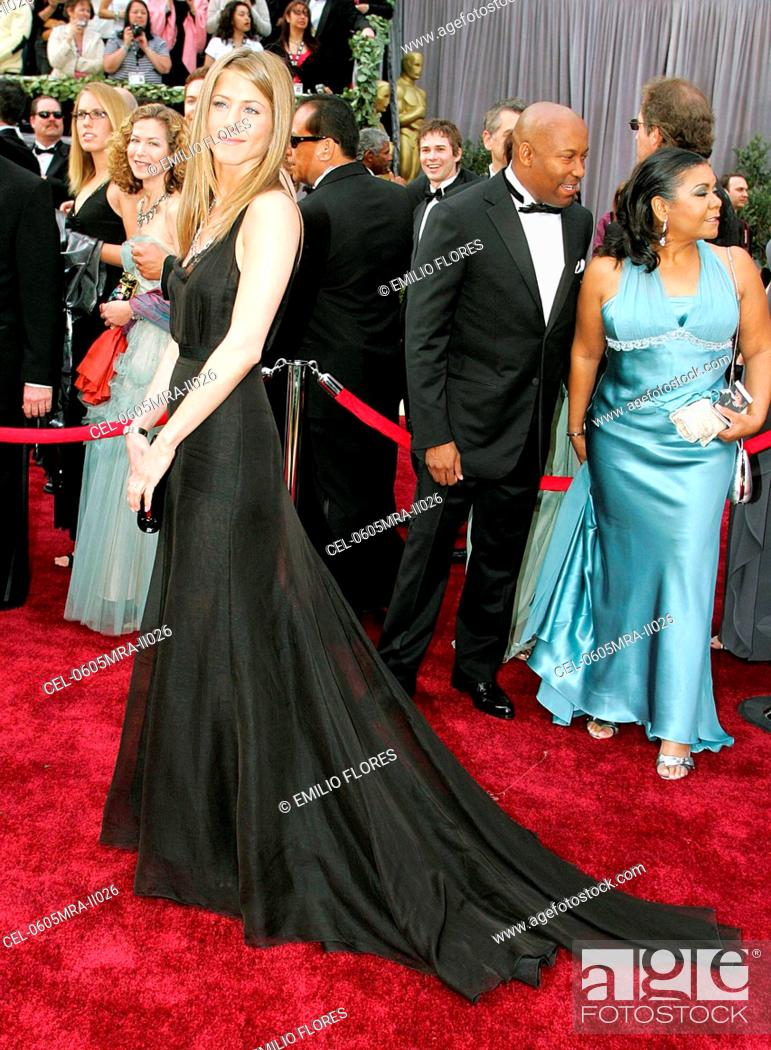 Stock Photo Jennifer Aniston Wearing A Rochas Gown At Arrivals For OSCARS 78th