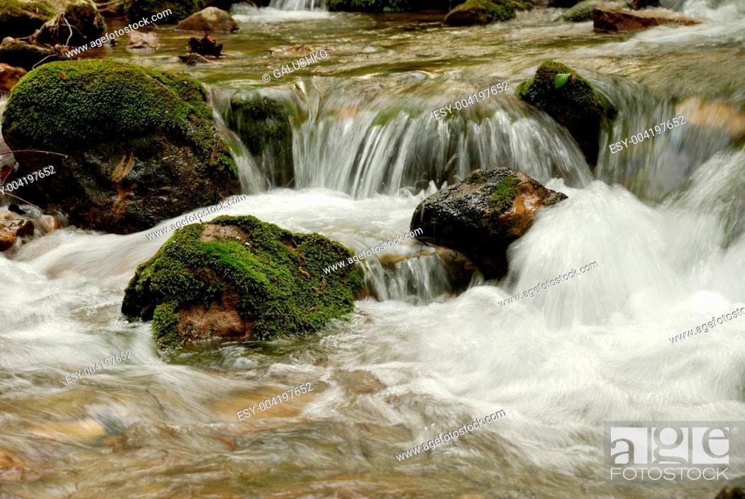 Stock Photo: mountain river.
