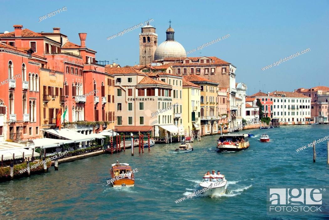 Stock Photo: Canal Grande, view from Ponte degli Scalzi, with church San Geremia, Italy, Veneto, Venice.