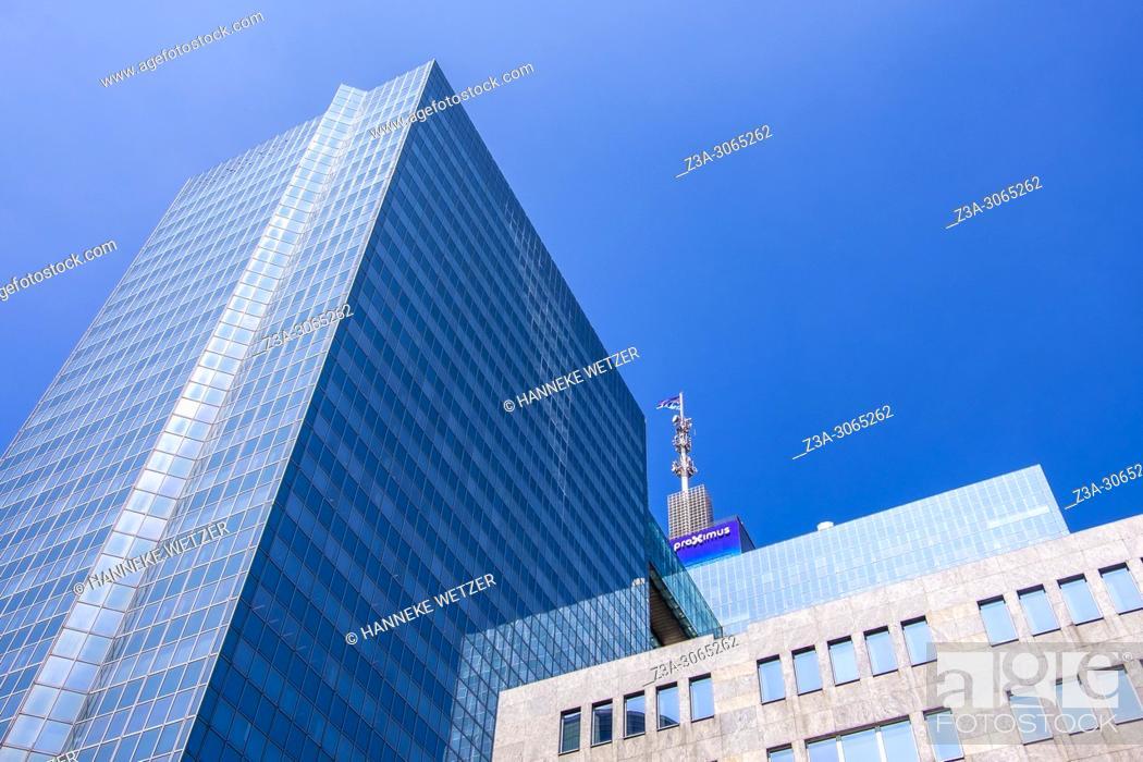 Stock Photo: Proximus building, Brussels, Belgium, Europe.