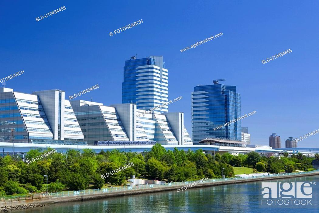 Stock Photo: Rinkai newly developed city center.