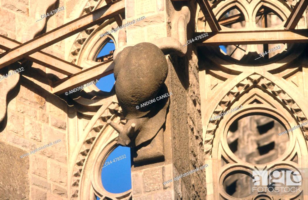 Stock Photo: La Sagrada Familia. Barcelona. Catalunya. Spain.