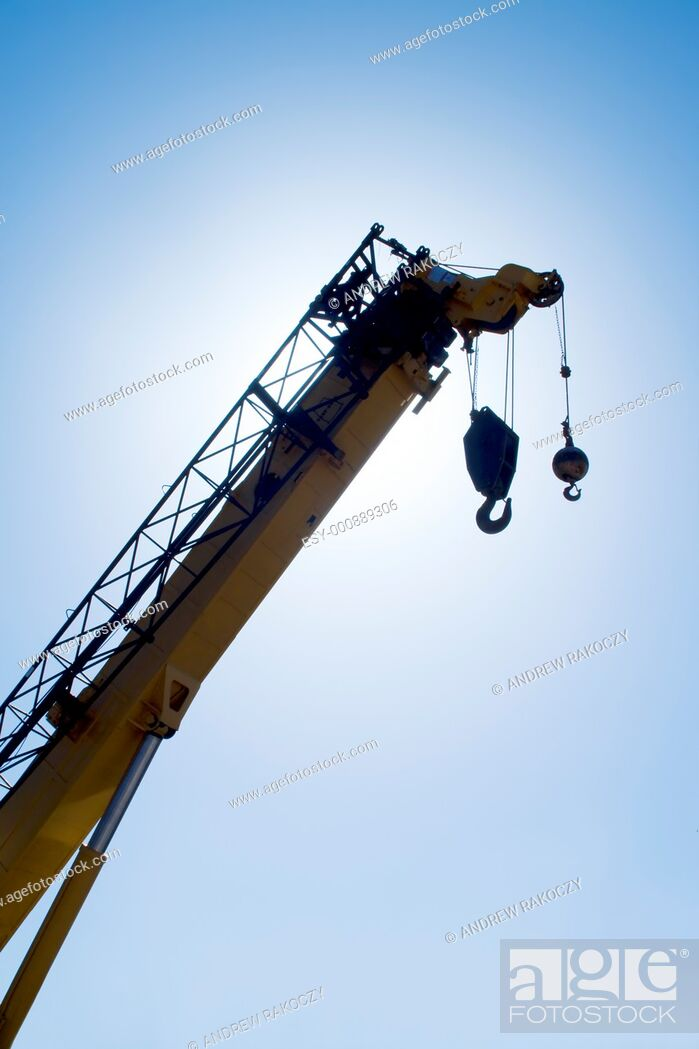 Stock Photo: Construction Crane silhouette.