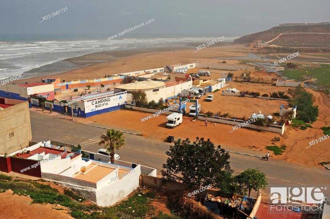 Stock Photo: Sidi Ifni Camping, Sidi Ifni, Morocco.