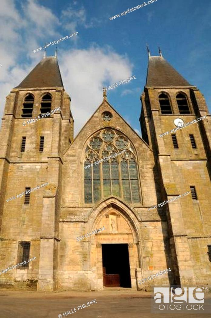Stock Photo: France, the collegiate church of Ecouis in l Eure.