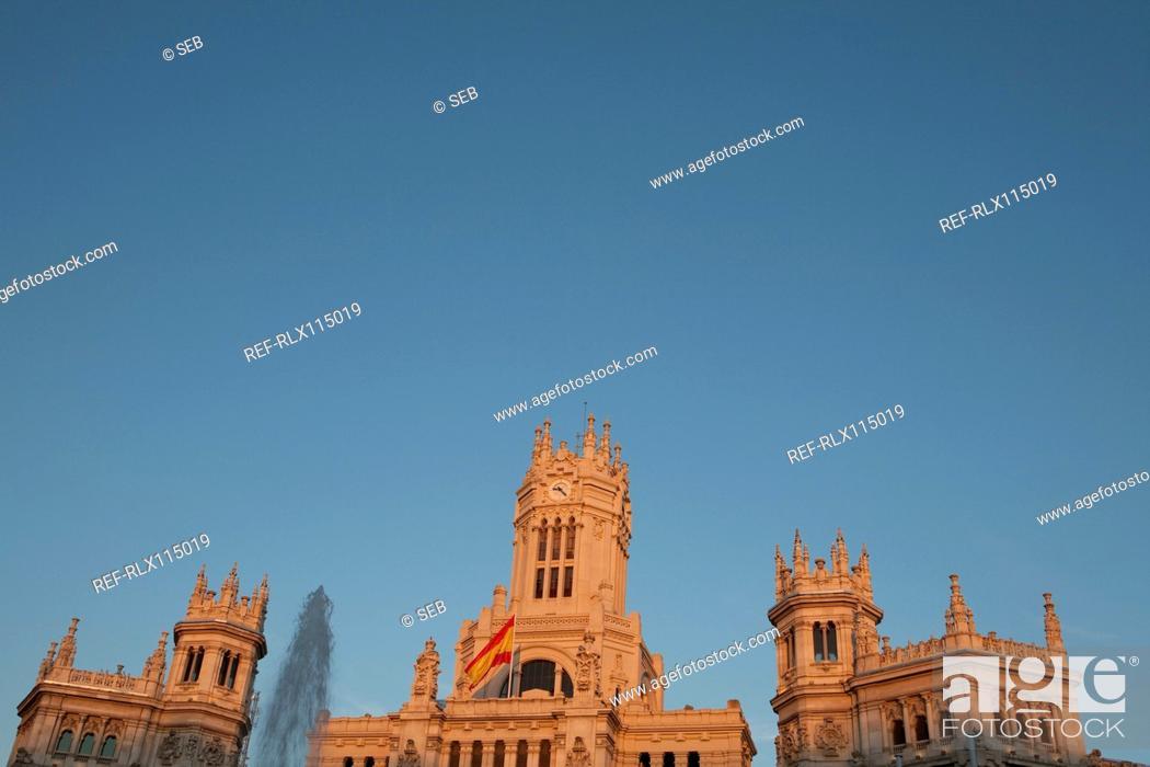 Stock Photo: Palacio de Comunicaciones, Madrid, Spain.
