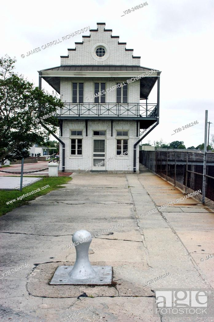 Stock Photo: Plaquemine Lock and House in Plaquemine, Louisiana, USA.