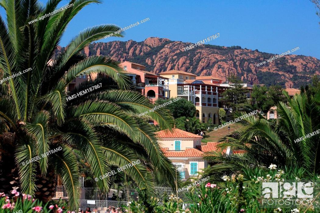 Stock Photo: France, Var, Esterel Corniche, Agay village, Pierre et Vacances Cap Esterel Residence.