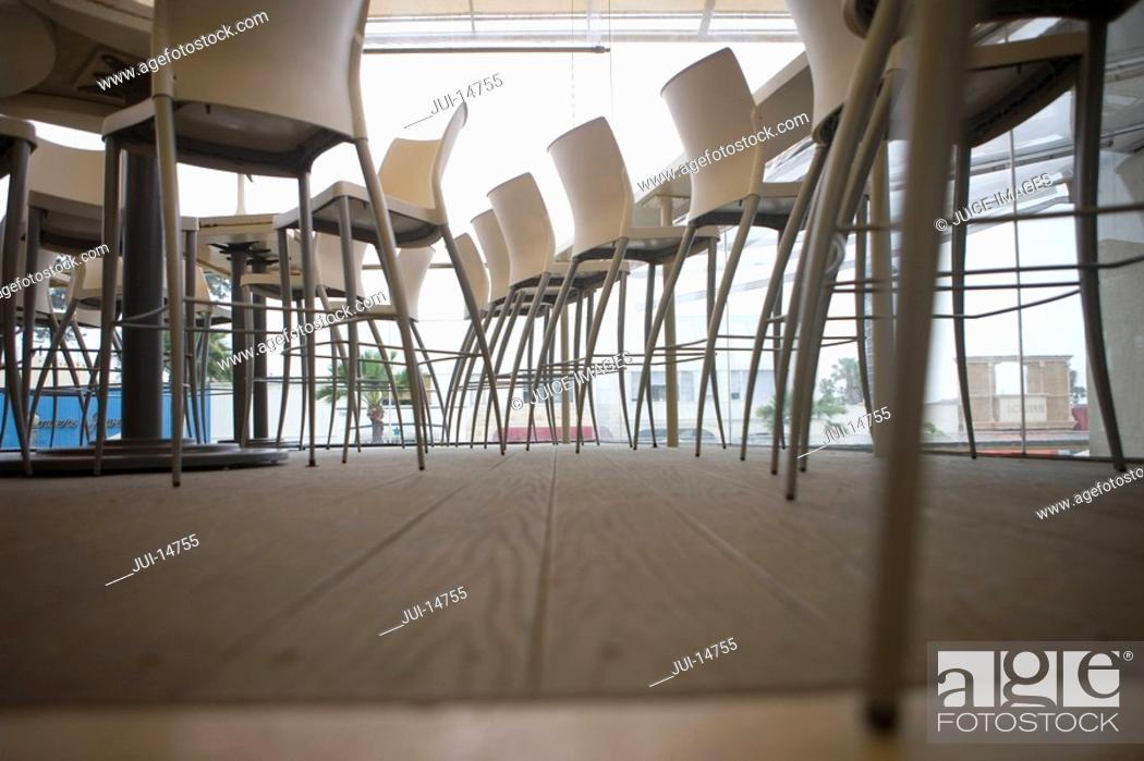 Stock Photo: Chairs in restaurant.