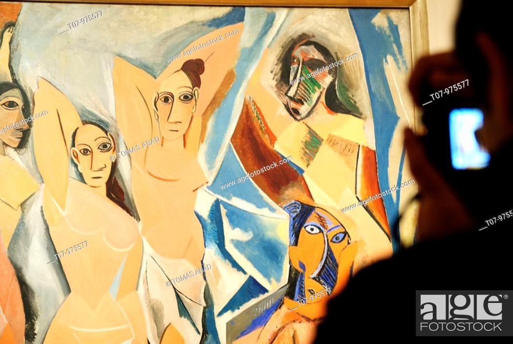 Les Demoiselles D Avignon The Young Ladies Of Avignon By Pablo Picasso 1907 Moma Museum Of Modern Stock Photo Picture And Rights Managed Image Pic T07 975577 Agefotostock